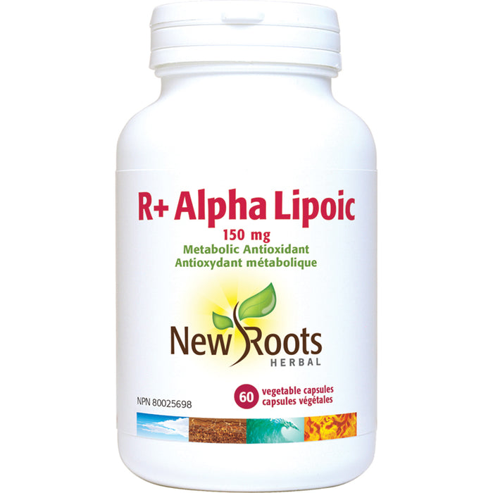 New Roots R+ Alpha Lipoic Acid 150mg 60 Vegetarian Capsules