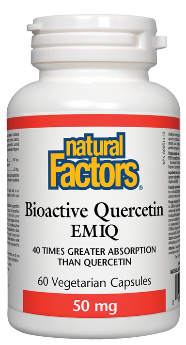 Natural Factors Bioactive Quercetin EMIQ 50mg 60 Vegetarian Capsules