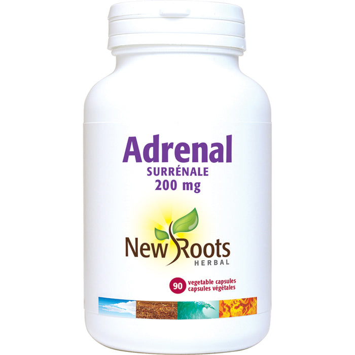 New Roots Adrenal With Peppermint 90 Vegetarian Capsules