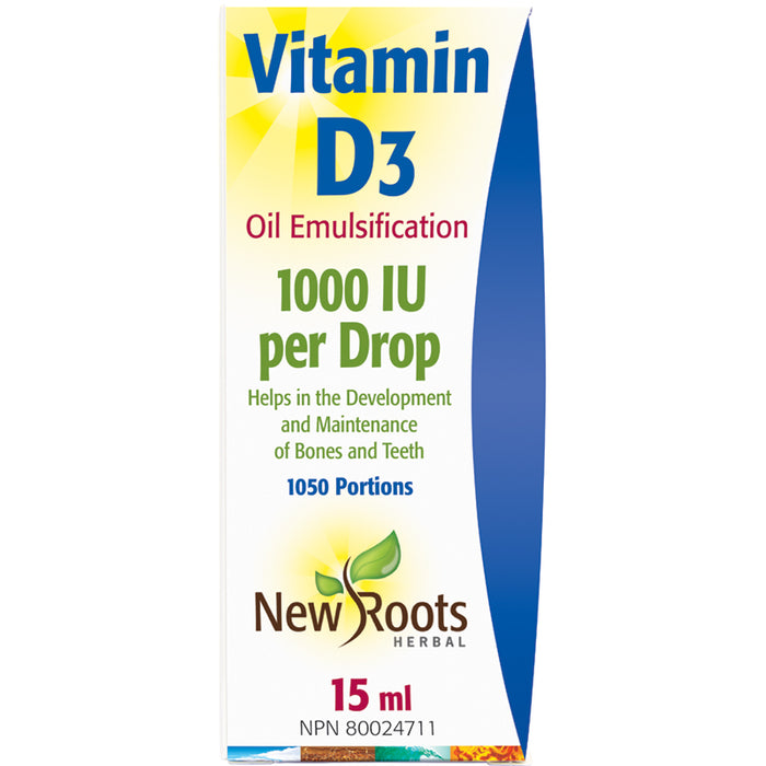 New Roots Vitamin D3 Liquid 15ml