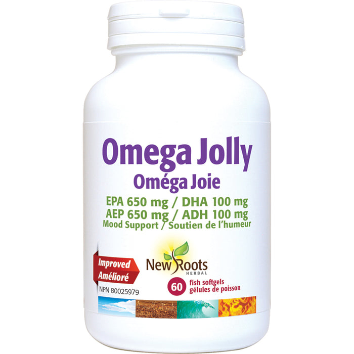 New Roots Omega Jolly 60 Fish Softgels