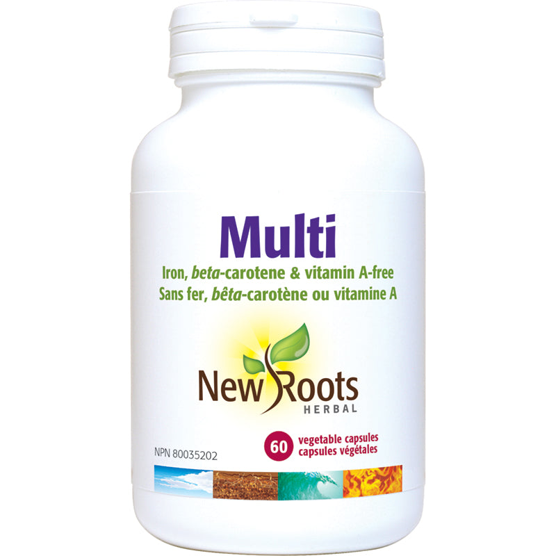 New Roots 1 A Day Multivitamin Iron Free Vitamin A Free 60 Vegetarian Capsules