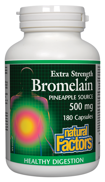 Natural Factors Bromelain Extra Strength 500mg 180 Capsules
