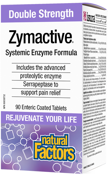 Natural Factors Zymactive Double Strength 90 Enteric Coated Tablets