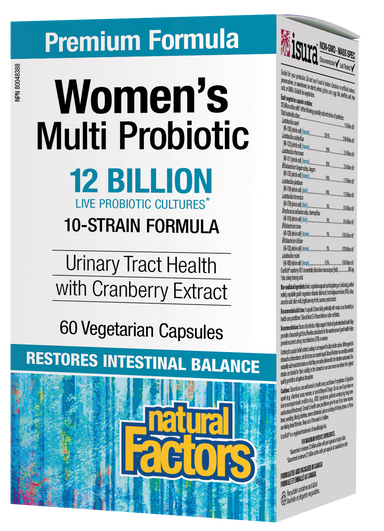 Natural Factors Women's Multi Probiotic 12 Billion 60 Vegetarian Capsules