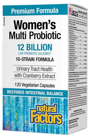 Natural Factors Women's Multi Probiotic 12 Billion 120 Vegetarian Capsules