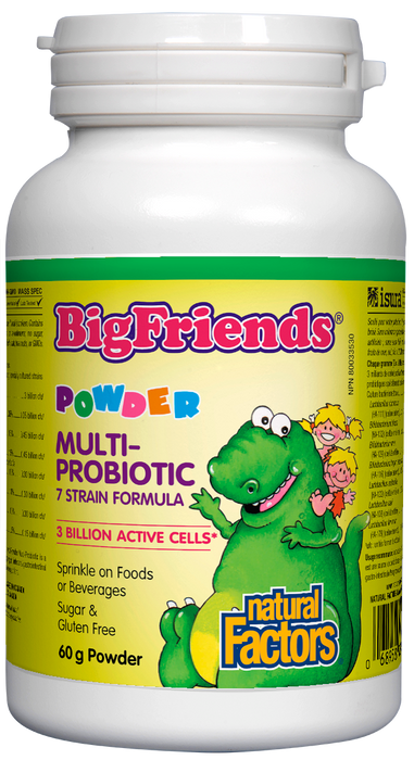 Natural Factors Big Friends Multi-Probiotic 3 Billion Active Cells 60g