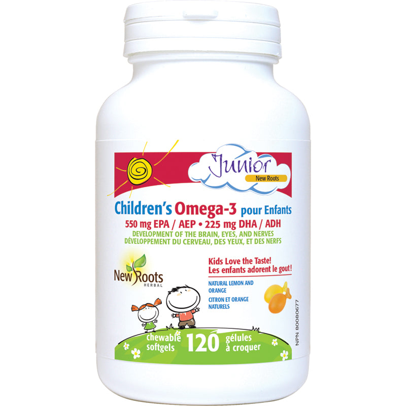 New Roots Children's Omega 3 Junior 120 Chewable Softgels