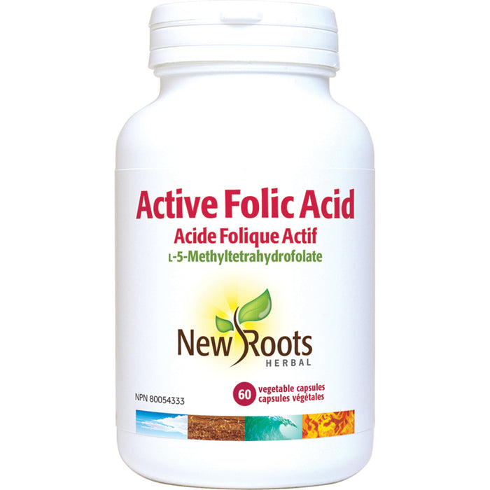 New Roots Active Folic Acid  60 Vegetarian Capsules