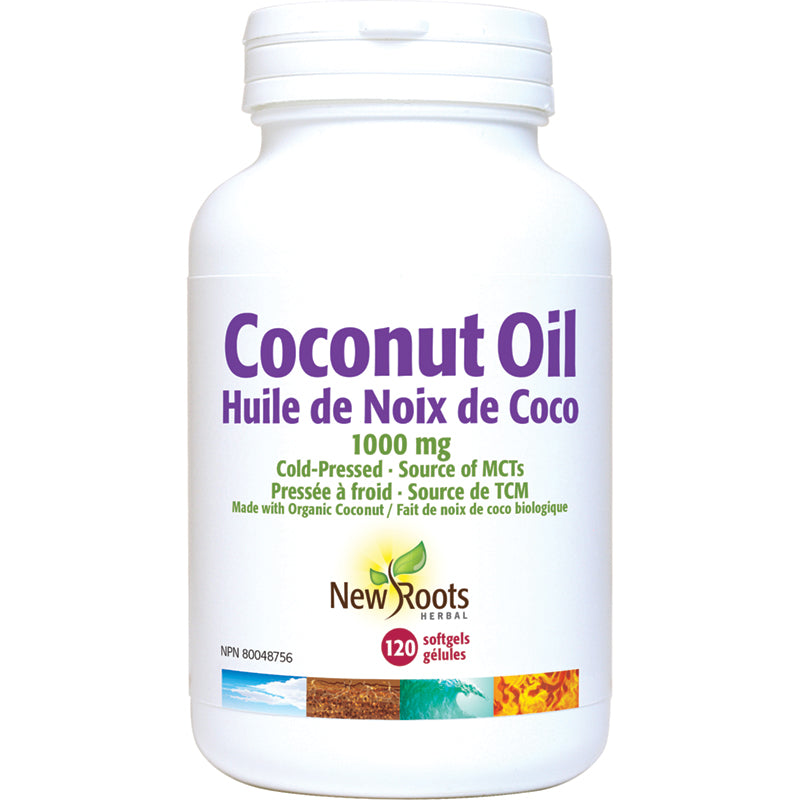 New Roots Coconut Oil Certified Organic 1000mg 120 Softgels