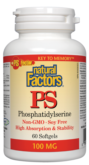 Natural Factors PS Phosphatidylserine 100mg 60 Softgels