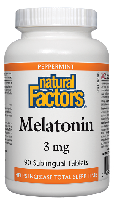 Natural Factors Melatonin 3mg Peppermint 90 Sublingual Tablets