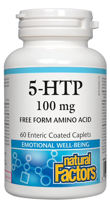 Natural Factors 5-HTP 100mg 60 Caplets Free Form Amino Acids