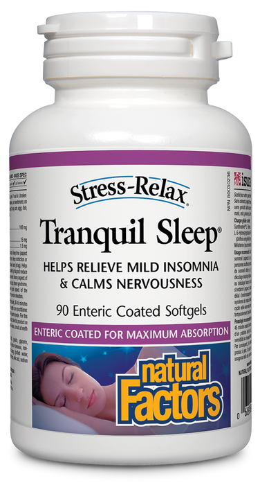 Natural Factors Stress-Relax Tranquil Sleep 90 Softgels