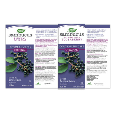 Nature's Way Sambucus Elderberry Syrup Original 120ml