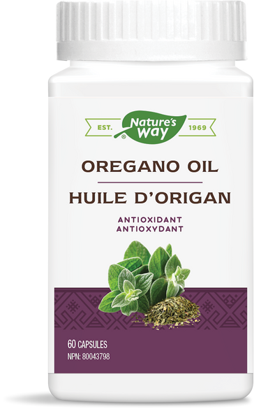 Nature's Way Oregano Oil 60 Liquid Vegetarian Capsules