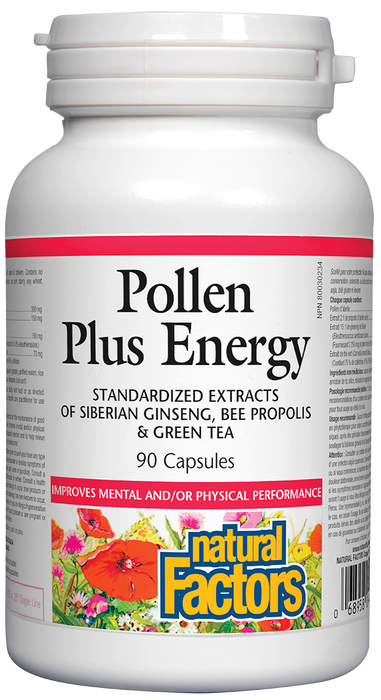 Natural Factors Pollen Plus Energy 90 Capsules