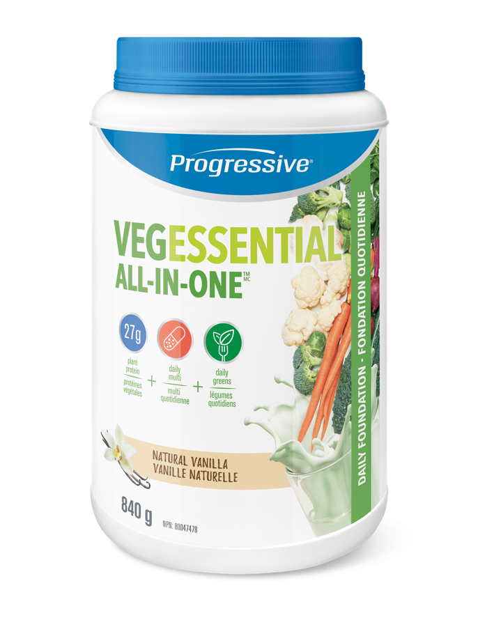 Progressive VegEssential All-In-One Natural Vanilla 840g