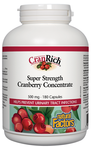 Natural Factors Cranrich Super Strength Cranberry Concentrate 500mg 180 Capsules