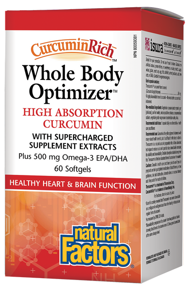 Natural Factors CurcuminRich Whole Body Optimizer 60 Softgels