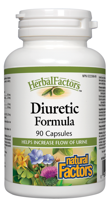 Natural Factors Diuretic Formula HerbalFactors 90 Capsules