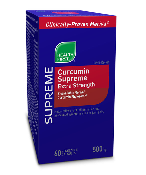 Buy Canada, Buy Local, Buy Independent.  Health First Curcumin Supreme Extra Strength (with Bioavailable Meriva® & Curcumin Phytosome®)