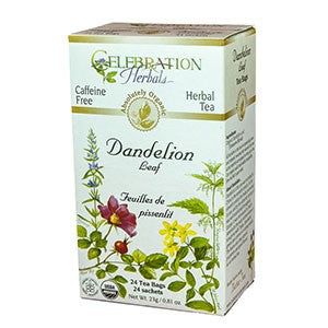 Celebration Herbals Dandelion Root Raw Organic 24 Tea Bags