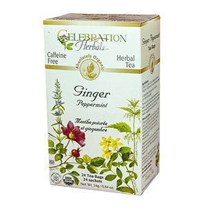 Celebration Herbals Ginger Peppermint Organic 24 Tea Bags