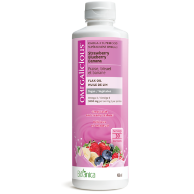 Botanica Omegalicious Vegan Strawberry Blueberry Flax Oil 450ml