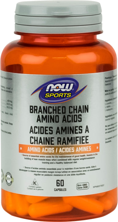 Now Branch Chain Amino Acid 60 Capsules