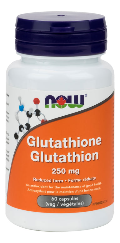 NOW Glutathione 250mg 60 Vegetarian Capsules
