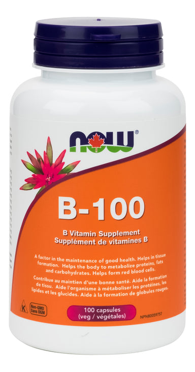 Now Vitamin B-100 100 Vegetarian Capsules