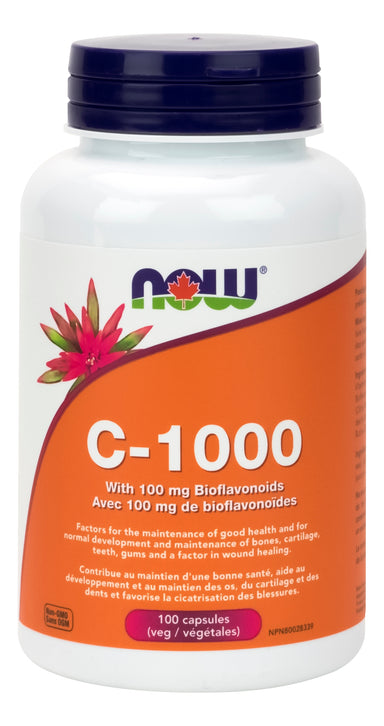 NOW Vitamin C-1000 With 100mg Bioflavinoids 100 Vegetarian Capsules