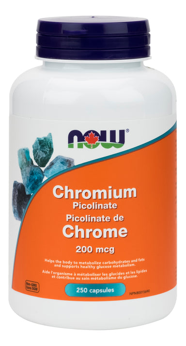 NOW Chromium Picolinate 200mcg 250 Capsules