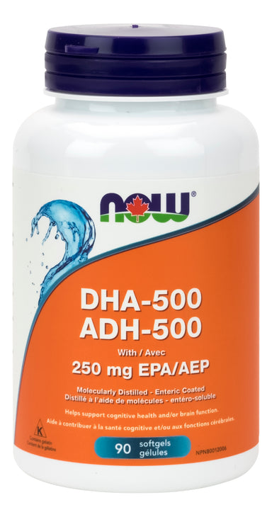 NOW DHA-500 1000mg 90 Softgels
