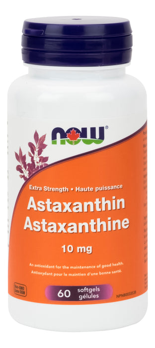 NOW Astaxanthin 10mg 60 Softgels