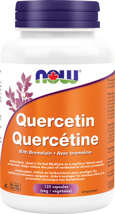 Now Quercetin with Bromelain 120 Vegetarian Capsules