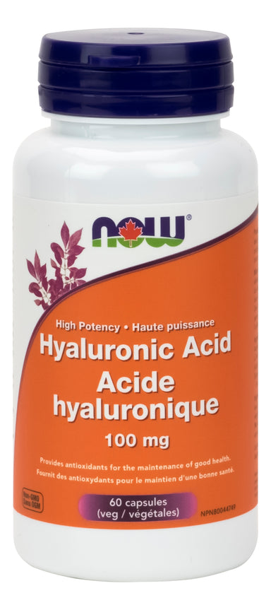 NOW Hyaluronic Acid 100mg+60 Vegetarian Capsules