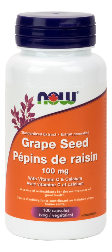 NOW Grape Seed Extract 100mg 100 Vegetarian Capsules