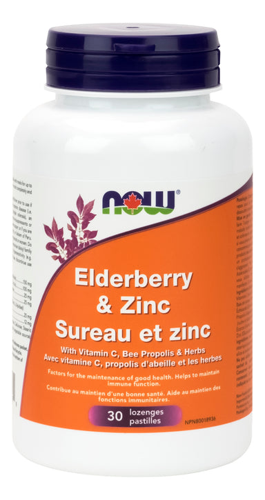 NOW Elder-Zinc 30 Lozenges