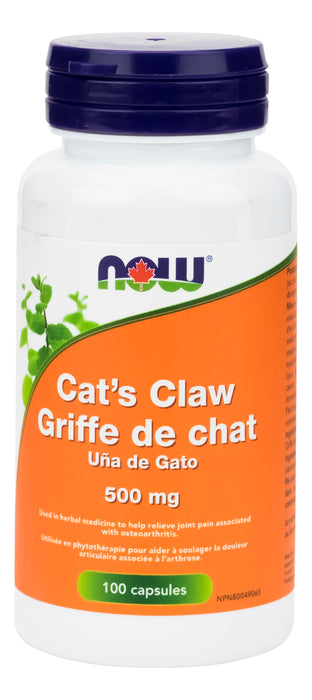 NOW Cat's Claw 500mg 100 Capsules