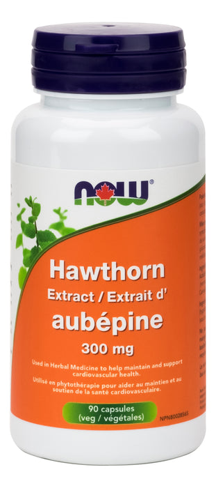 NOW Hawthorn Extract 300mg 90 Vegetarian Capsules