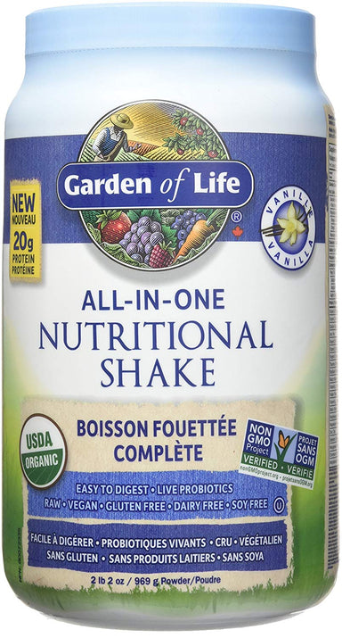 Garden of Life All-In-One Nutritional Shake Vanilla 969g