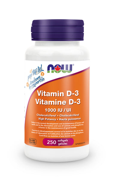 NOW Vitamin D-3 1000 iu 250 Softgels