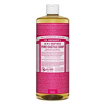 Dr. Bronner's Organic Rose Castile Soap 944ml