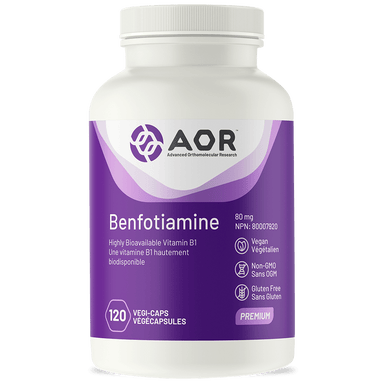 AOR Benfotiamine 80 mg 120 Vegetable Capsules