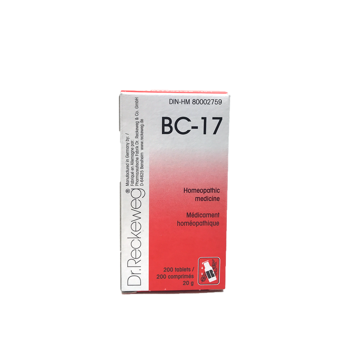 Dr. Reckeweg BC-17 200 Tablets 20g