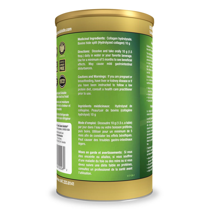 Great Lakes Collagen Hydrolysate from Grass Fed Beef 454g  Buy Canada, Buy Local.