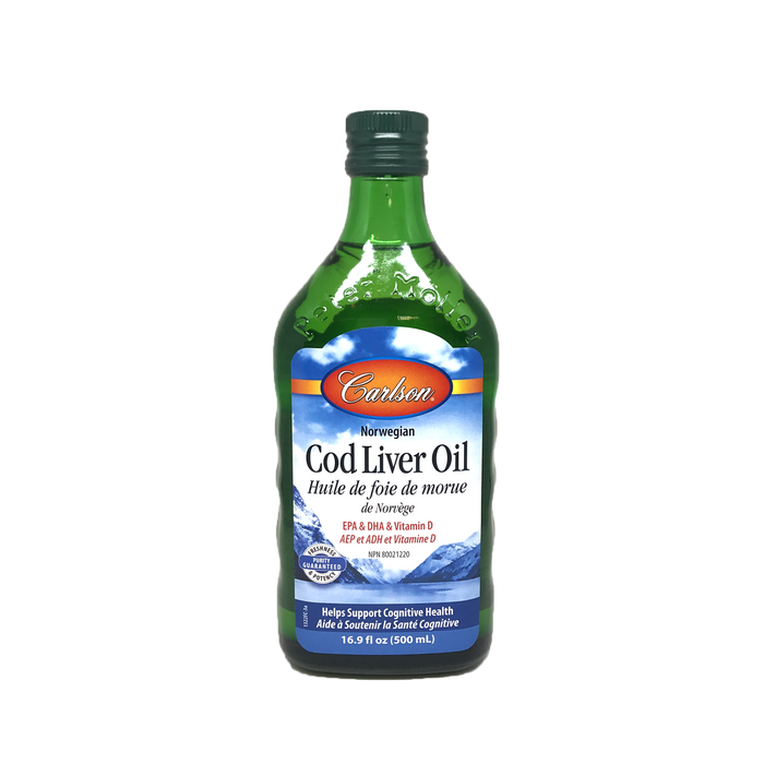 Carlson Norwegian Cod Liver Oil Unflavoured 500ml