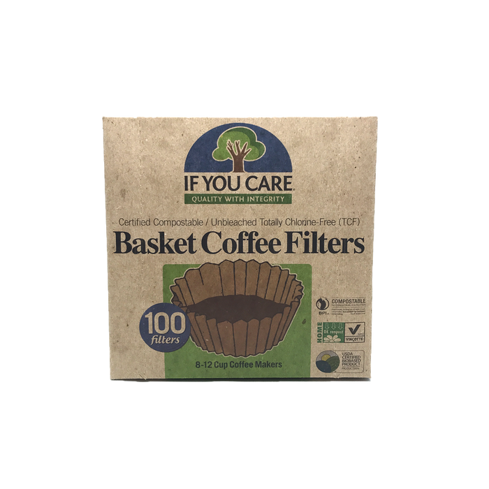 If You Care Unbleached Coffee Filters Basket Size #8 -100Pk
